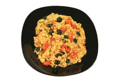 Среднеземноморской обед вегетарианца стиля Стоковая Фотография