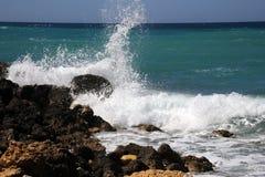 Среднеземноморской прибой Стоковые Фото