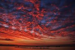 Среднеземноморской рассвет Стоковые Изображения RF