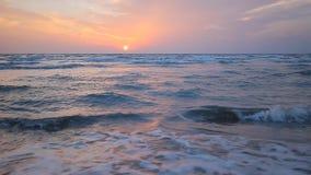 среднеземноморск над заходом солнца моря видеоматериал