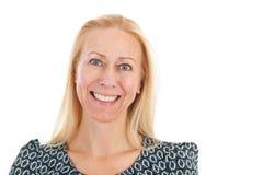 Средний возраст женщины портрета Стоковое фото RF