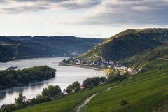 Средняя долина Рейна около Lorch Стоковые Изображения
