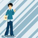 средняя школа мальчика Стоковое Изображение RF