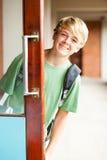 средняя школа мальчика Стоковые Фотографии RF