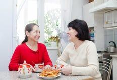 2 средн-постаретых подруги Стоковая Фотография RF