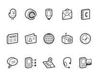 Средства и иконы связи Стоковое фото RF