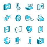 Средства и иконы связи Стоковое Изображение RF
