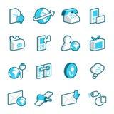 Средства и иконы связи Стоковое Фото