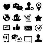 Средства и иконы связи Стоковые Изображения