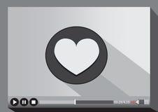 Средства массовой информации видео-плейер для сети Стоковые Фотографии RF
