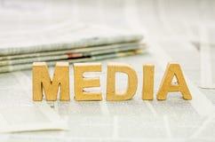 Средства массовой информации слова стоковые фотографии rf
