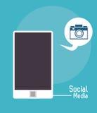 Средства массовой информации social камеры фото пузыря Smartphone бесплатная иллюстрация