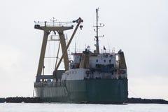 Средств взгляд корабля от кормового (вид сзади) Стоковое Изображение