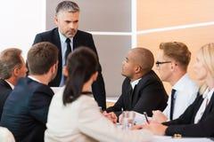 Срочная деловая встреча Стоковые Фотографии RF