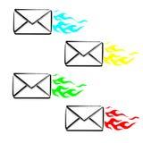 Срочное сообщение SMS иллюстрация вектора
