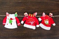 Срубите игрушки праздника года стоковое фото rf