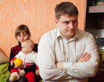 ссора семьи Стоковые Фото