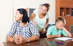 Ссора семьи Стоковая Фотография RF