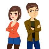Ссора любовника пар иллюстрация штока