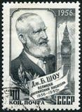 СССР - 1956: выставки Джордж Бернард Шоу 1856-1950, драматург Стоковые Фотографии RF