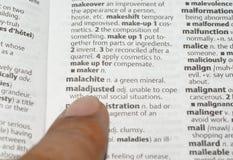 ссылаться словаря Стоковое фото RF
