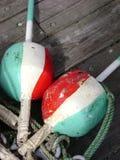 ставит бакены tricolor Стоковые Фото
