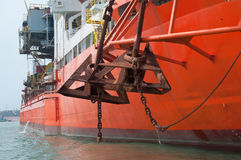 ставит корабль на якорь сверла Стоковая Фотография