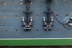 ставит крейсер на якорь рассвета Стоковое Изображение RF