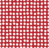 ставит точки белизна scribbled красным цветом Стоковая Фотография