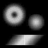 ставит точки вектор halftone ретро Стоковое фото RF