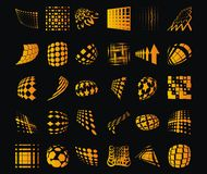 ставит точки динамически предметы Стоковые Фотографии RF