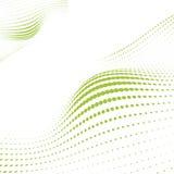 ставит точки зеленая волна Стоковая Фотография RF