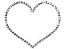 ставит точки серебр сделанный сердцем Стоковое Фото