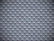 ставит точки серый металл круглый Стоковое фото RF