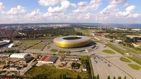 Стадион Гданьска, взгляд сверху акции видеоматериалы