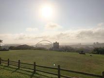 Стадион Дурбан Южная Африка mabhida Моисея Стоковое фото RF