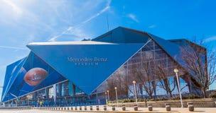 Стадион Мерседес-Benz готовый для Супер Боул стоковое изображение rf