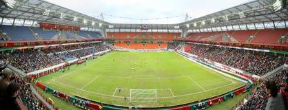стадион панорамы футбола Стоковое фото RF