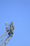 стадион прожекторов Стоковое фото RF