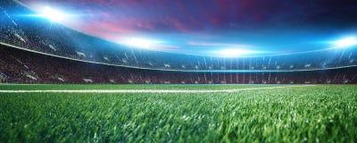 Стадион с вентиляторами перед спичкой стоковое фото