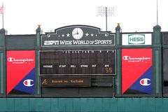 стадион табло чемпиона электронный Стоковые Изображения RF