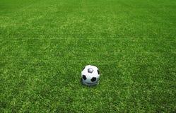 Стадион футбольного поля футбола Стоковые Фотографии RF