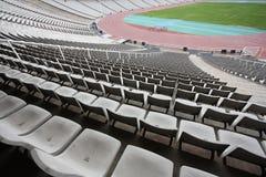 стадион barcelona пустой montjuic олимпийский Стоковая Фотография