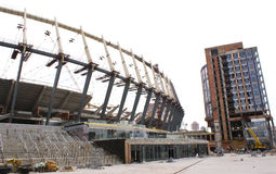 стадион kiev конструкции Стоковое фото RF