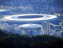 Стадион Maracana в центре Рио-де-Жанейро стоковое изображение rf