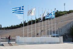 Стадион Panathenaic в Афинах, Греции Стоковая Фотография