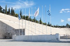 Стадион Panathenaic в Афинах, Греции Стоковые Изображения RF