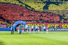 Стадион Rajko Mitic, дом звезды Белграда красной стоковое фото