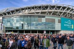 Стадион Wembley, Лондон стоковые изображения rf