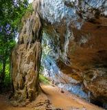 Сталактит пещеры известняка в Krabi, Таиланде Стоковая Фотография RF